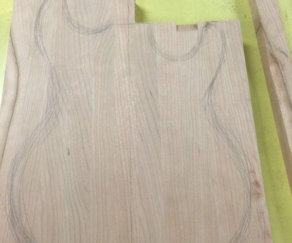 Scrap Wood Guitar Body Blank