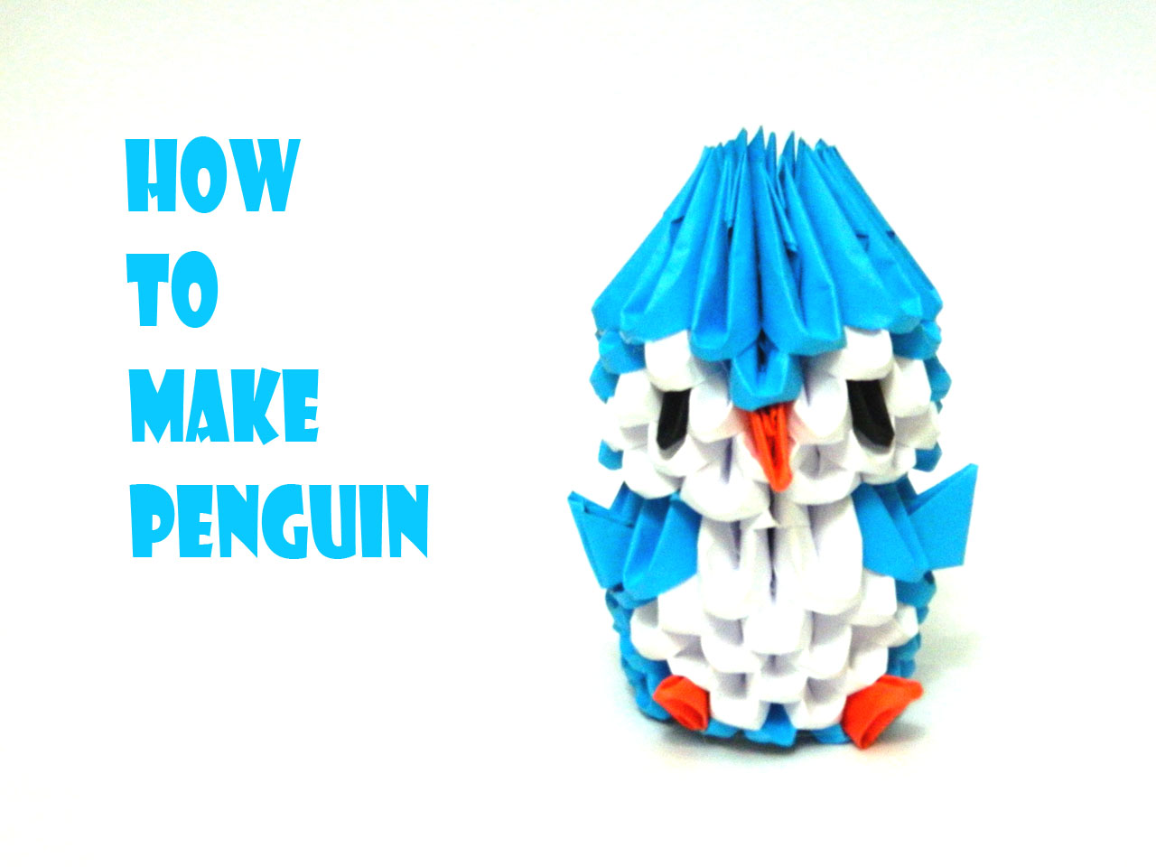 How to make 3D Origami Penguin