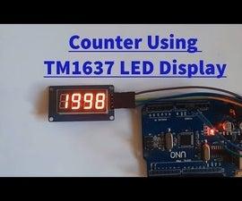 Arduino Counter Using TM1637 LED Display