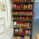 Empty space next to the fridge?  Make a Roll-Out Pantry