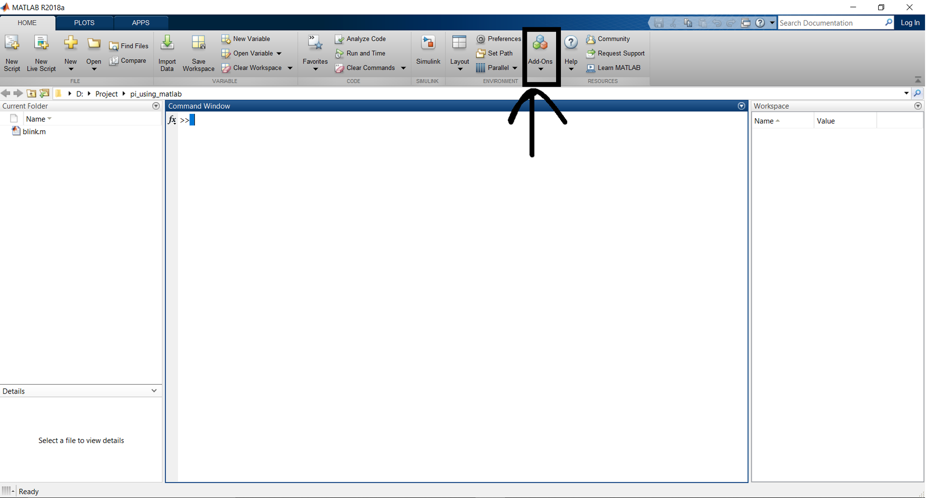 Installing Necessaary Support Package in MATLAB