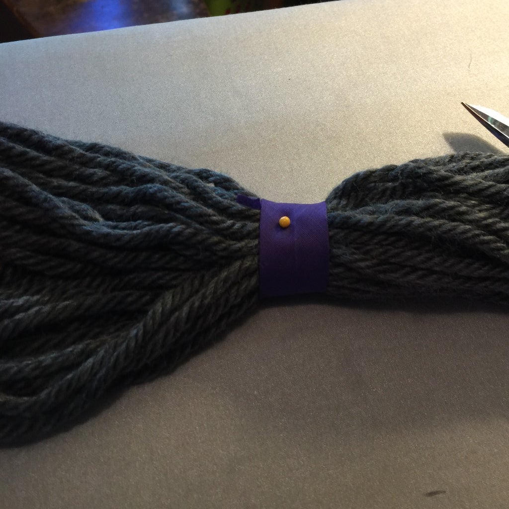 Press Open the Purple Bias Tape, Cut 2 5' Pieces. Fit Bias Tape Around Pigtails, Pin, Hand or Machine Stitch Closed
