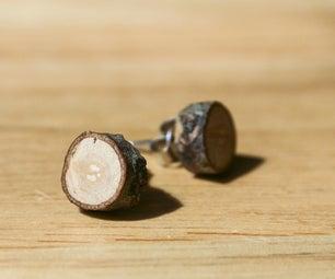Three Step, Simple, Upcycled Wood Earrings <3 KanduBeads