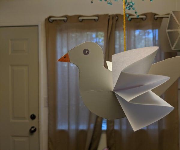 纸板和平的鸽子