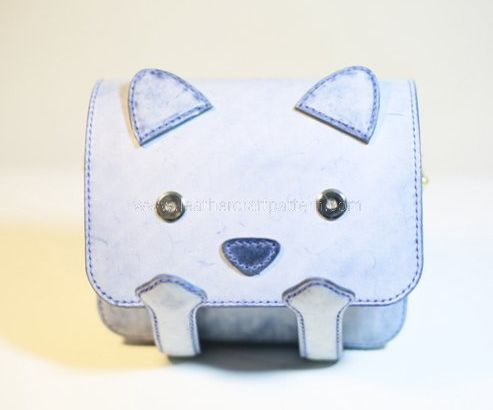 Cat Leather Bag