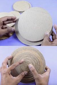 Let's Stick Circular Cardboards!