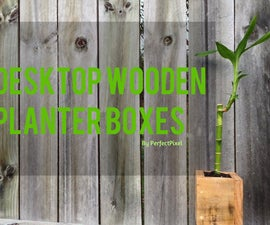 Pallet Desktop Planters