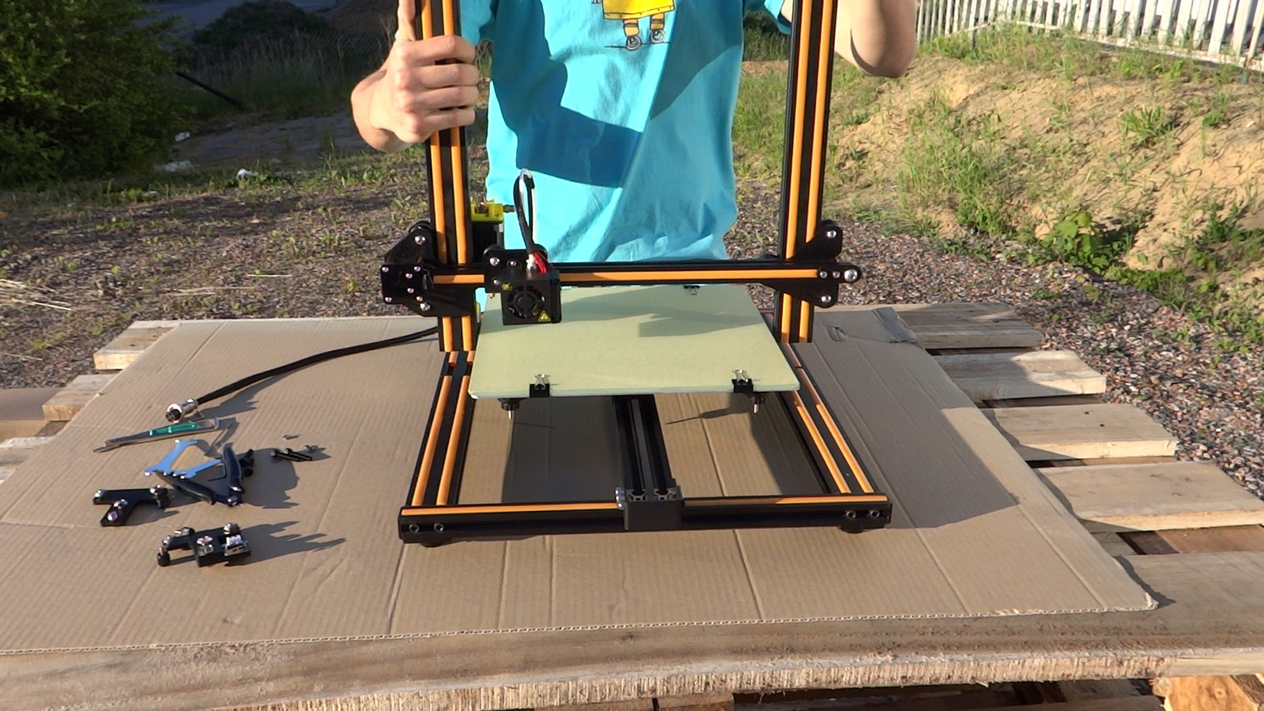 Connect Bottom With Top of the Printer