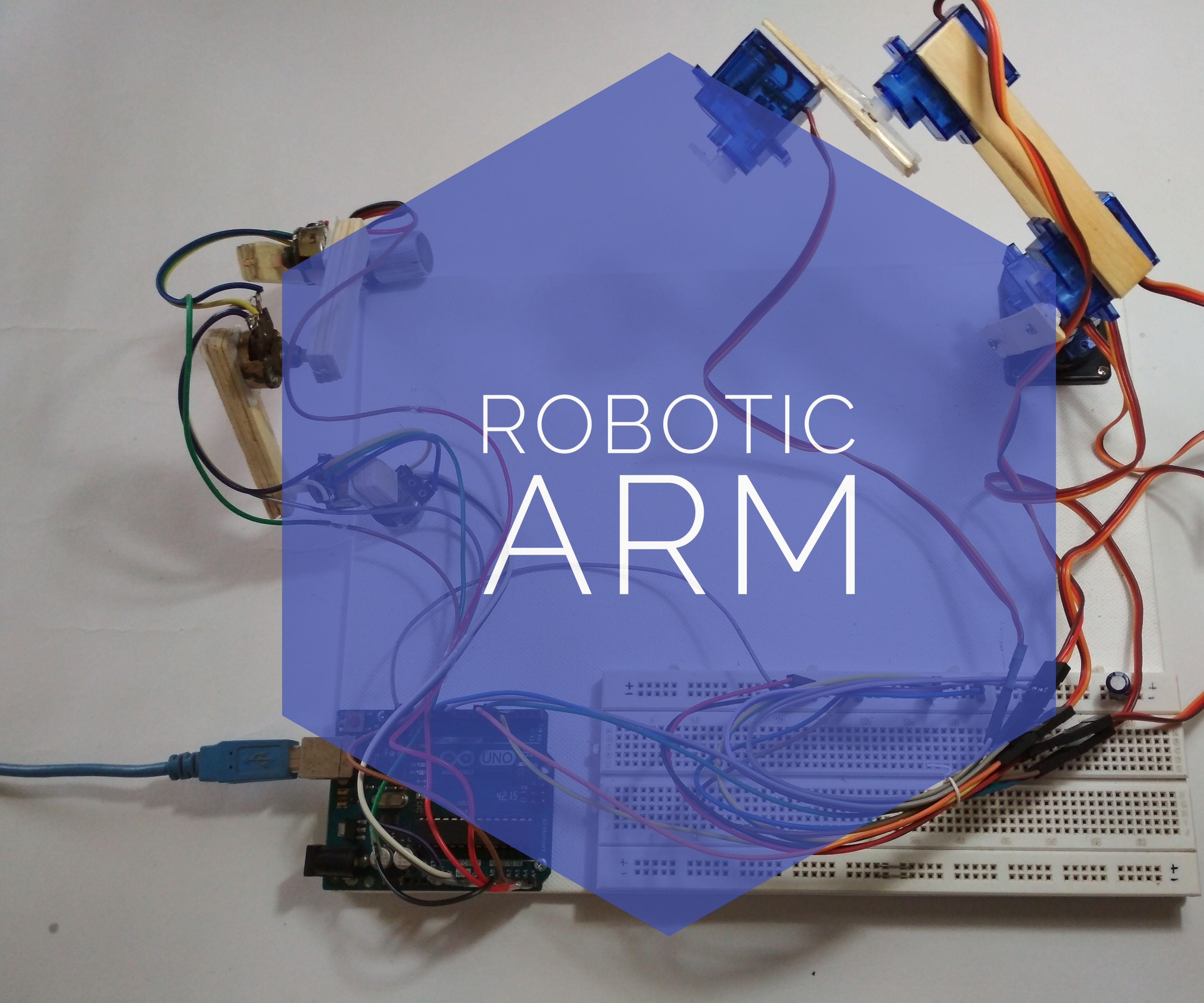 Simple Smart Robotic Arm Using Arduino !!!