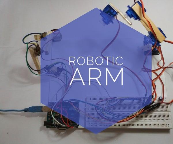 Simple & Smart Robotic Arm Using Arduino !!!