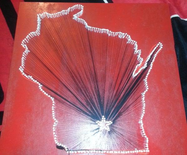 Wisconsin State String Art