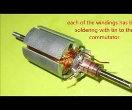 REWINDING a DC  MOTOR  (RS-540 Brushed Type)