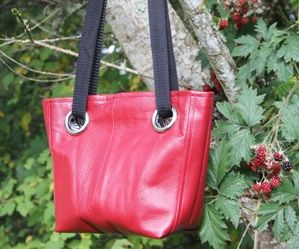 Grommet Bag from a Leather Coat
