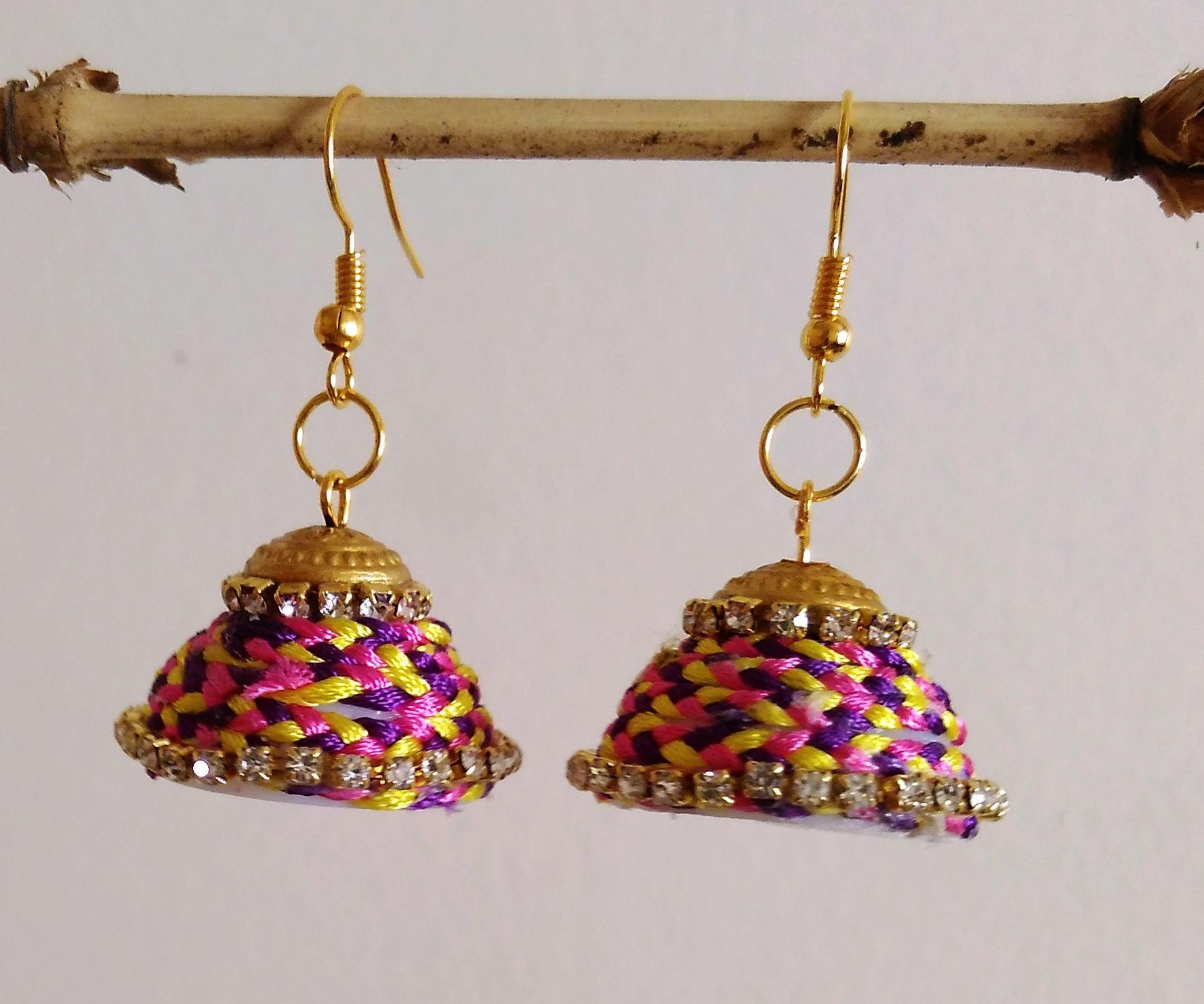 Braided Earings (Jhumkas)