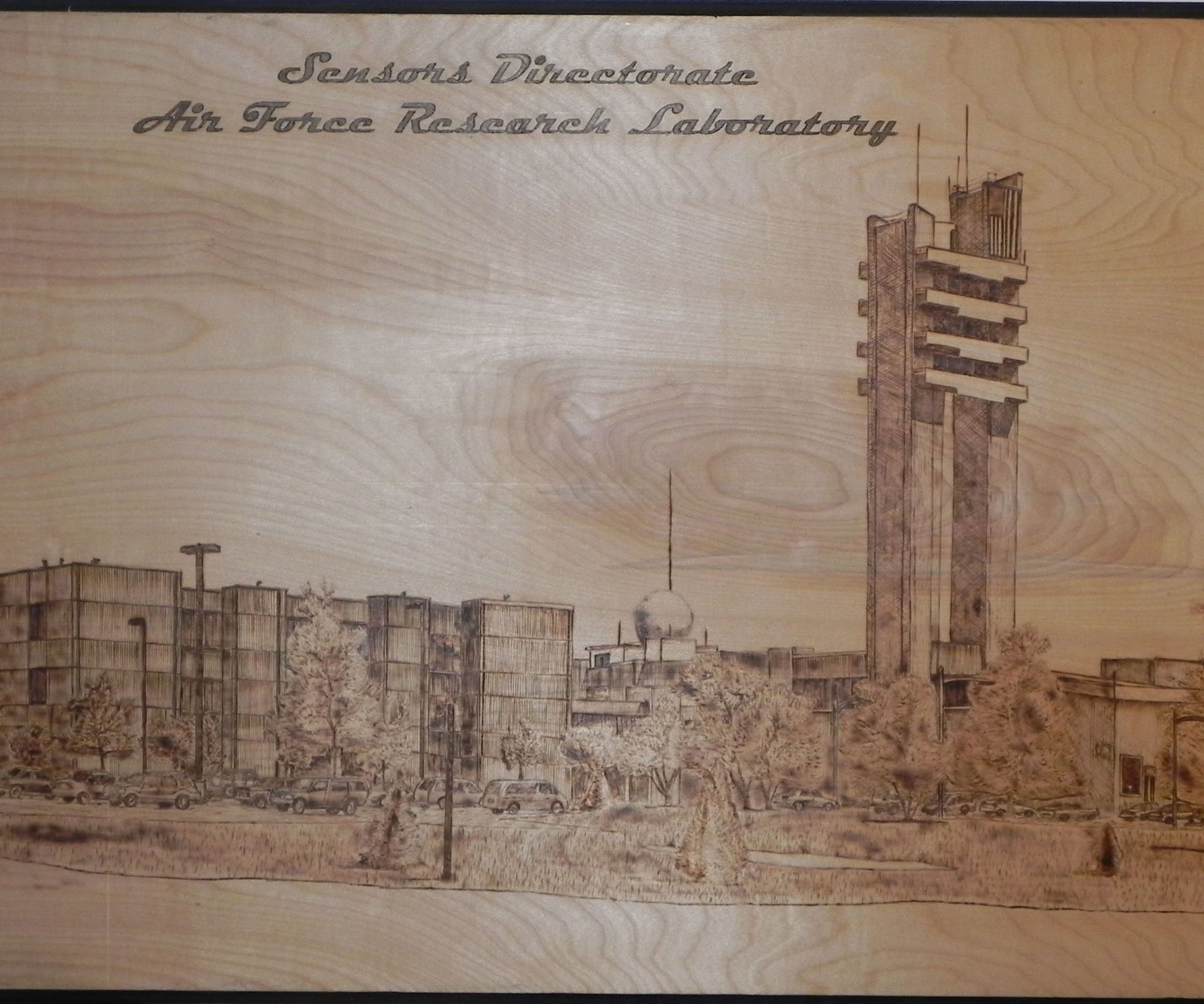 Architectural Mural Pyrography