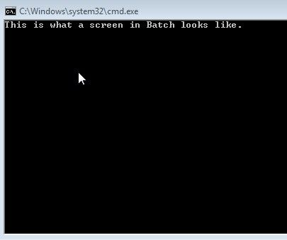 Making your first Batch program