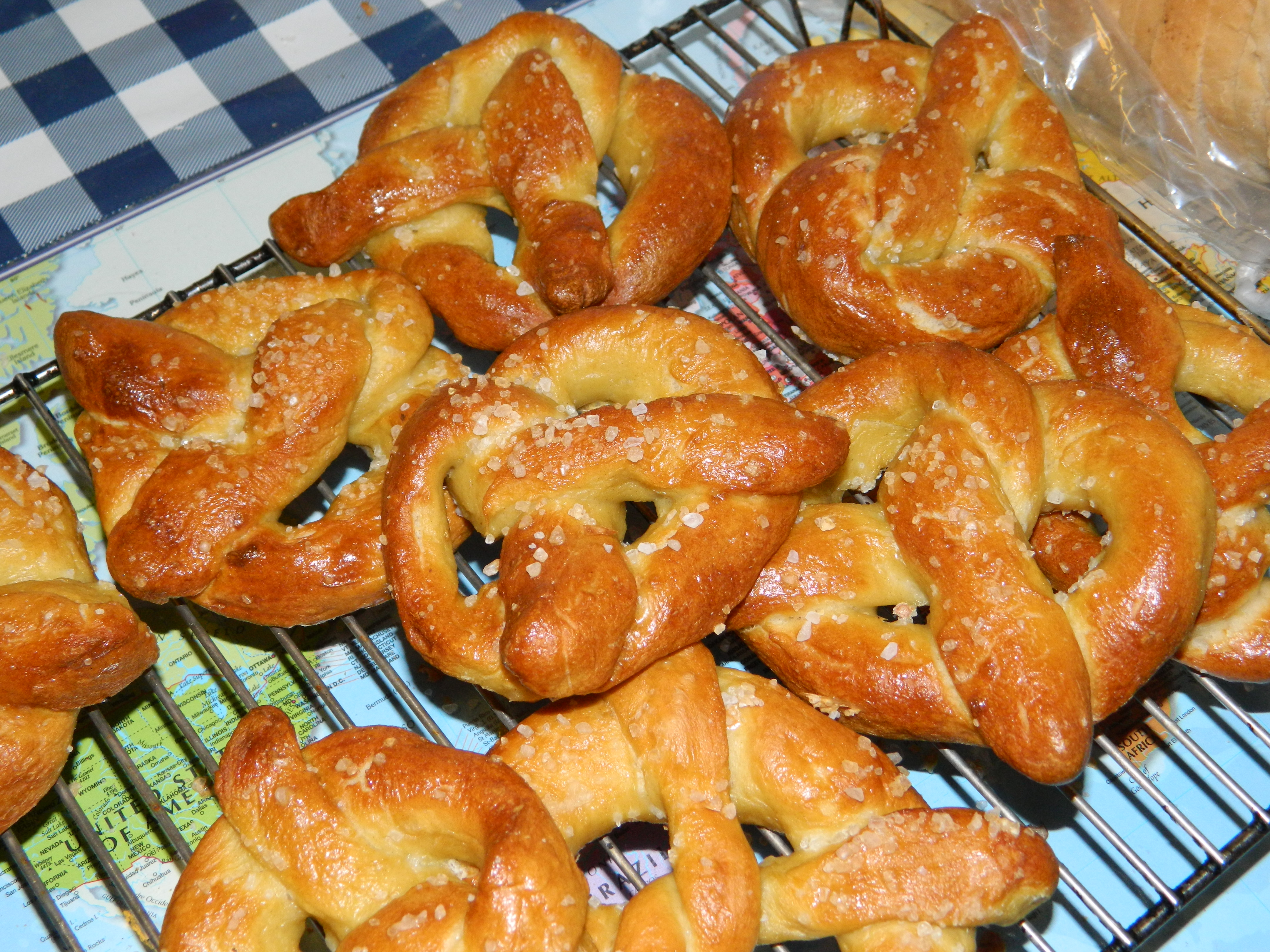 Homemade Pretzels (2 types: Traditional and Cream Cheese Filled)
