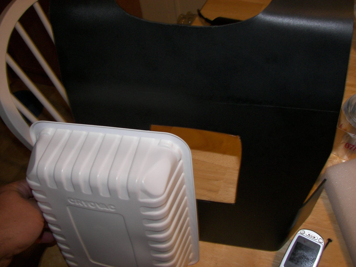 Back Plate - Bending Flaps and Shoulders - Cutting Access Holes