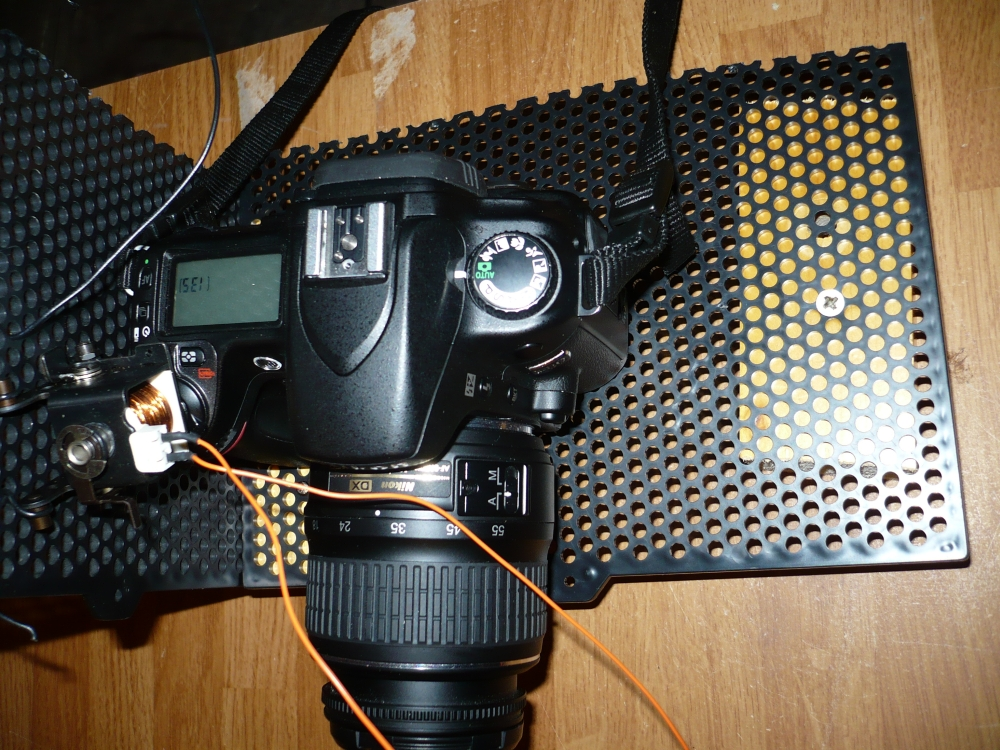 Remote control camera trigger, wired