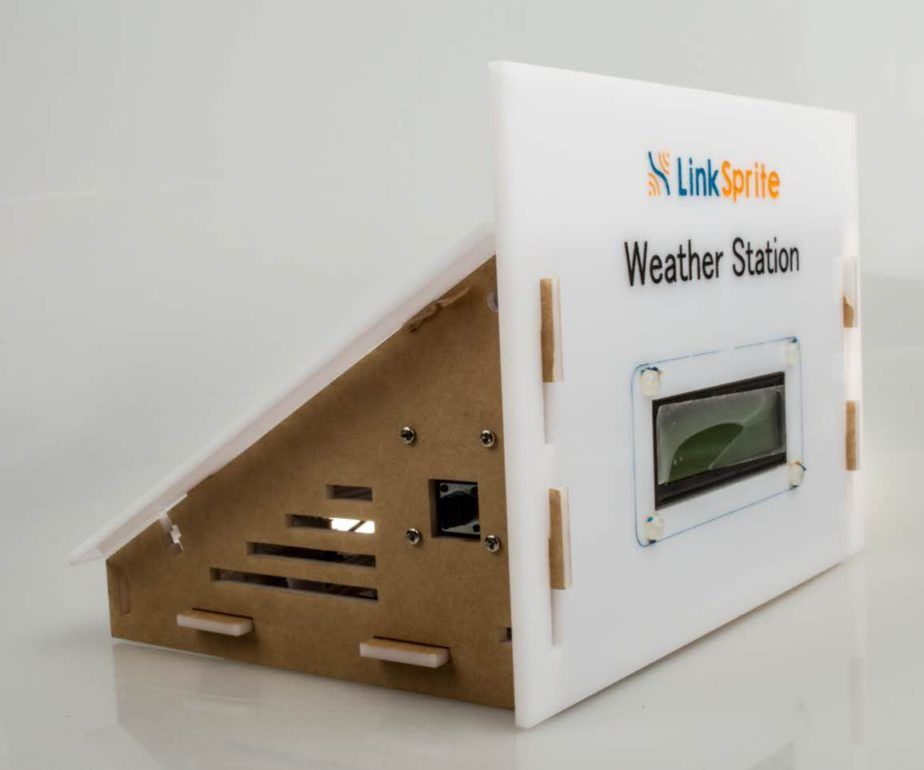LinkSprite Weather Station Kit With Solar Panel powered by LinkNode and LinkSpriteIO