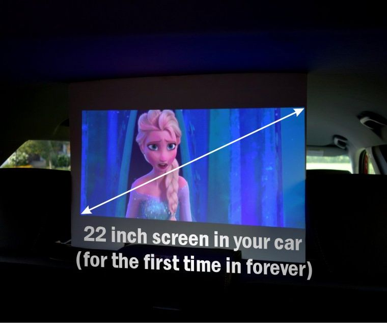 22 Inch Cinema in Your Car
