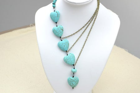 The Final Look of Beaded Chain Necklace