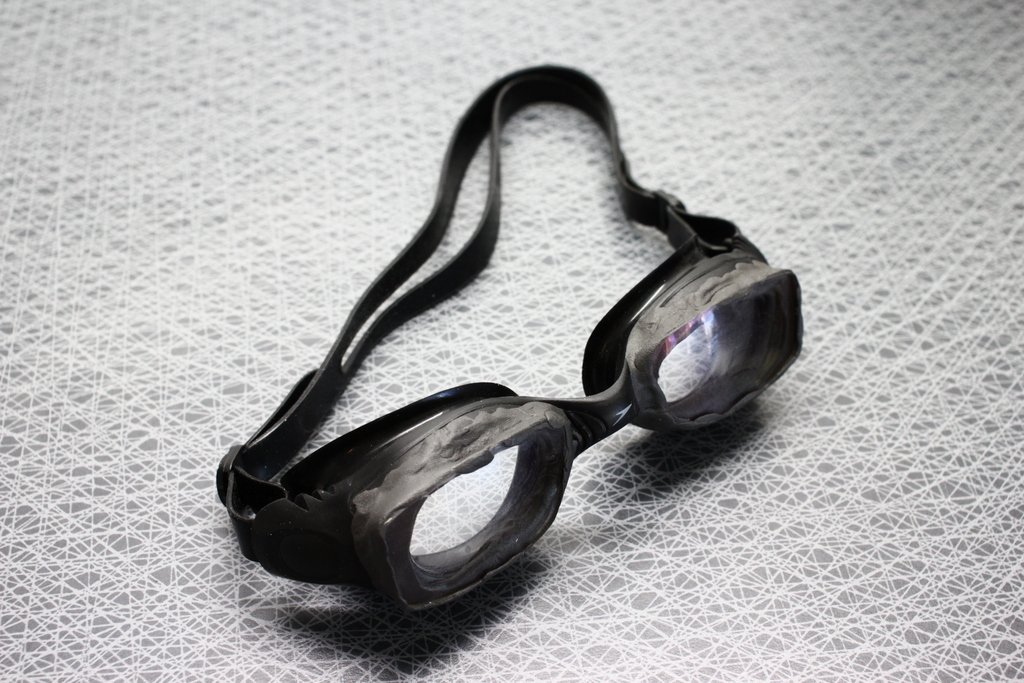 Make your own prescription swimming goggles