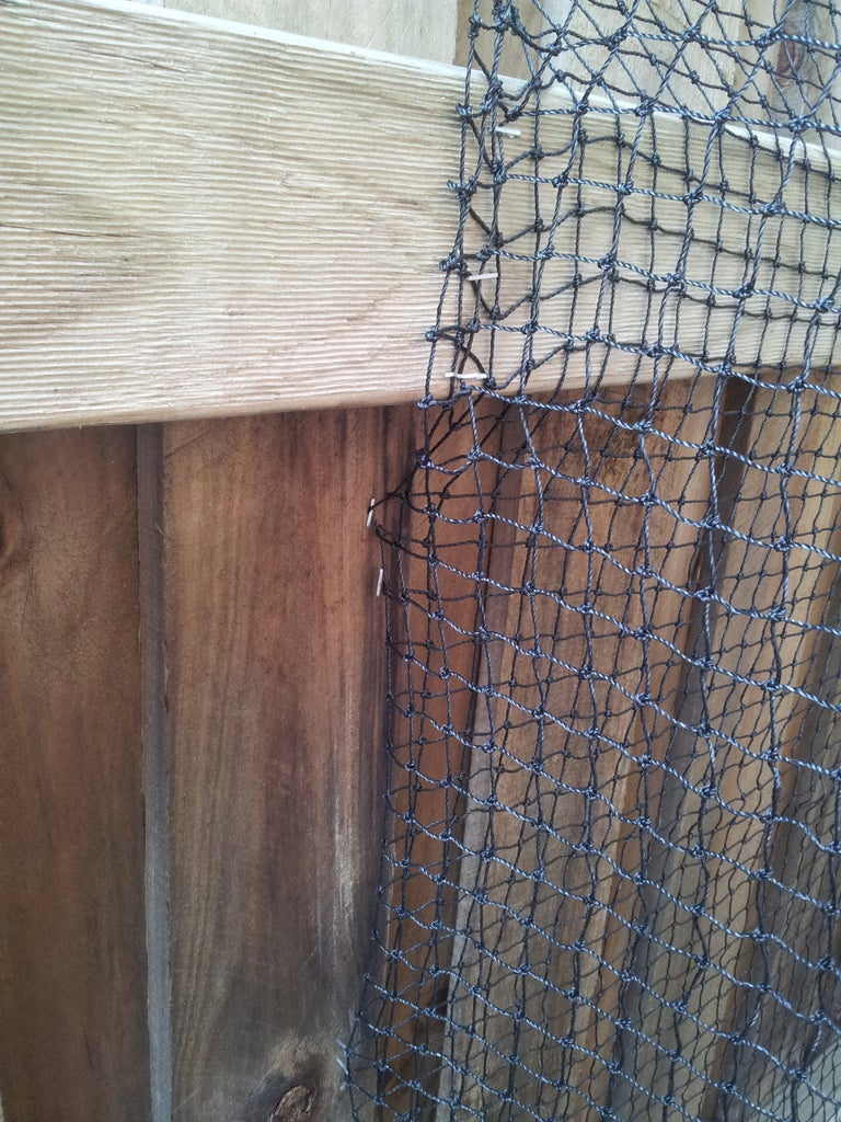 Rigging the Net - Staple to the Fence
