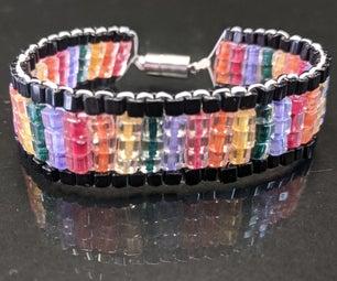 Make a Flat Rainbow Bracelet!