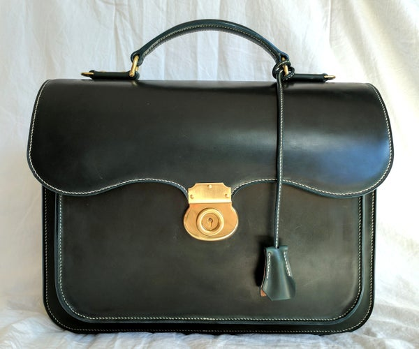 Shell Cordovan Leather Briefcase