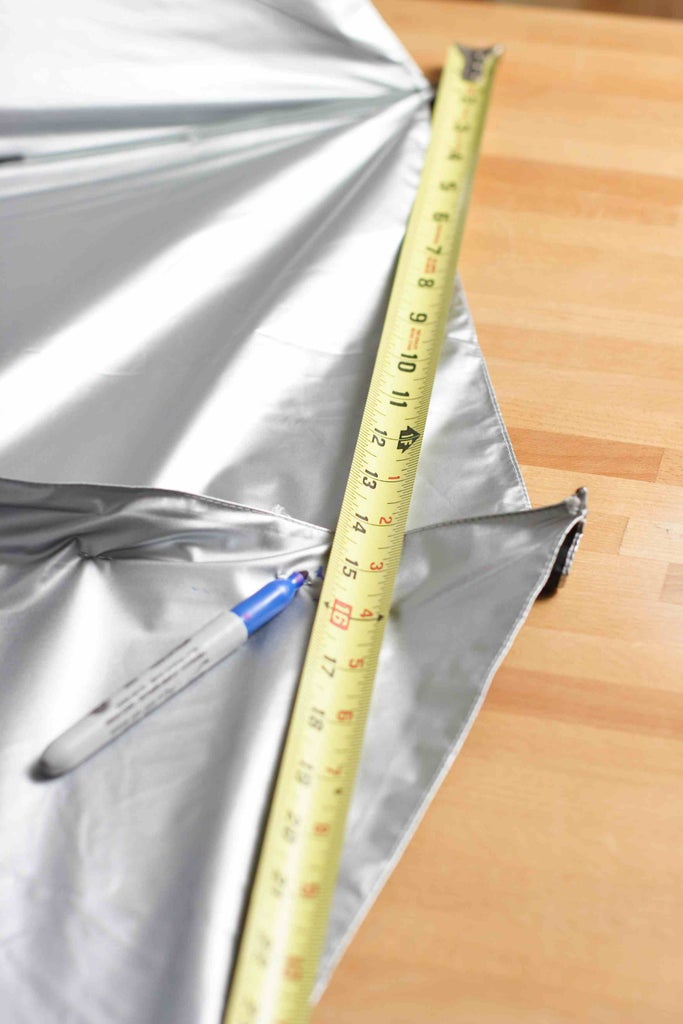 Gather Additional Fabric in the Umbrella Shell
