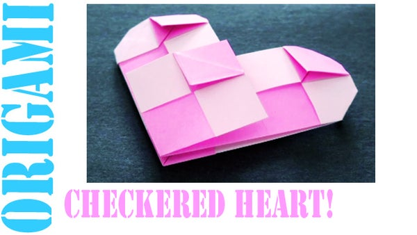How to Make an Origami Valentine's Day Checkered Heart!