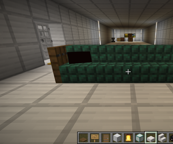 """""""illegal"""" Minecraft Couch With Pillows"""