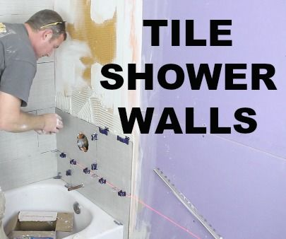 How to Tile a Shower Wall...AND Cut Tiles Like a Pro!!