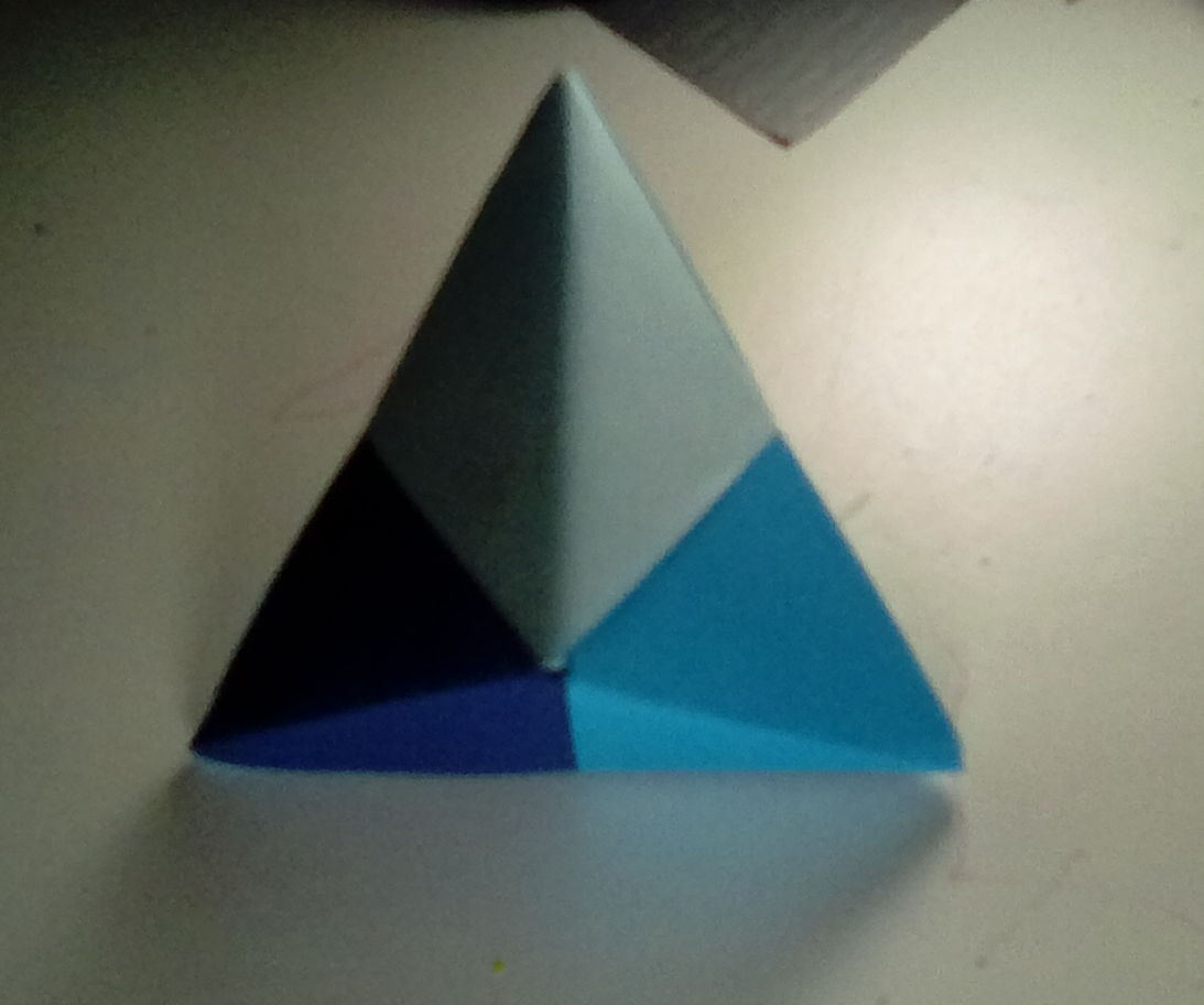 Modular Origami Triangular Bipyramid Type 1