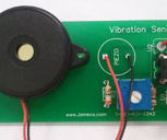 Vibration sensor with no moving parts