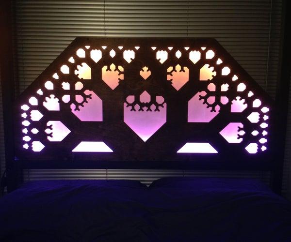 LED + CNC Fractal Headboard
