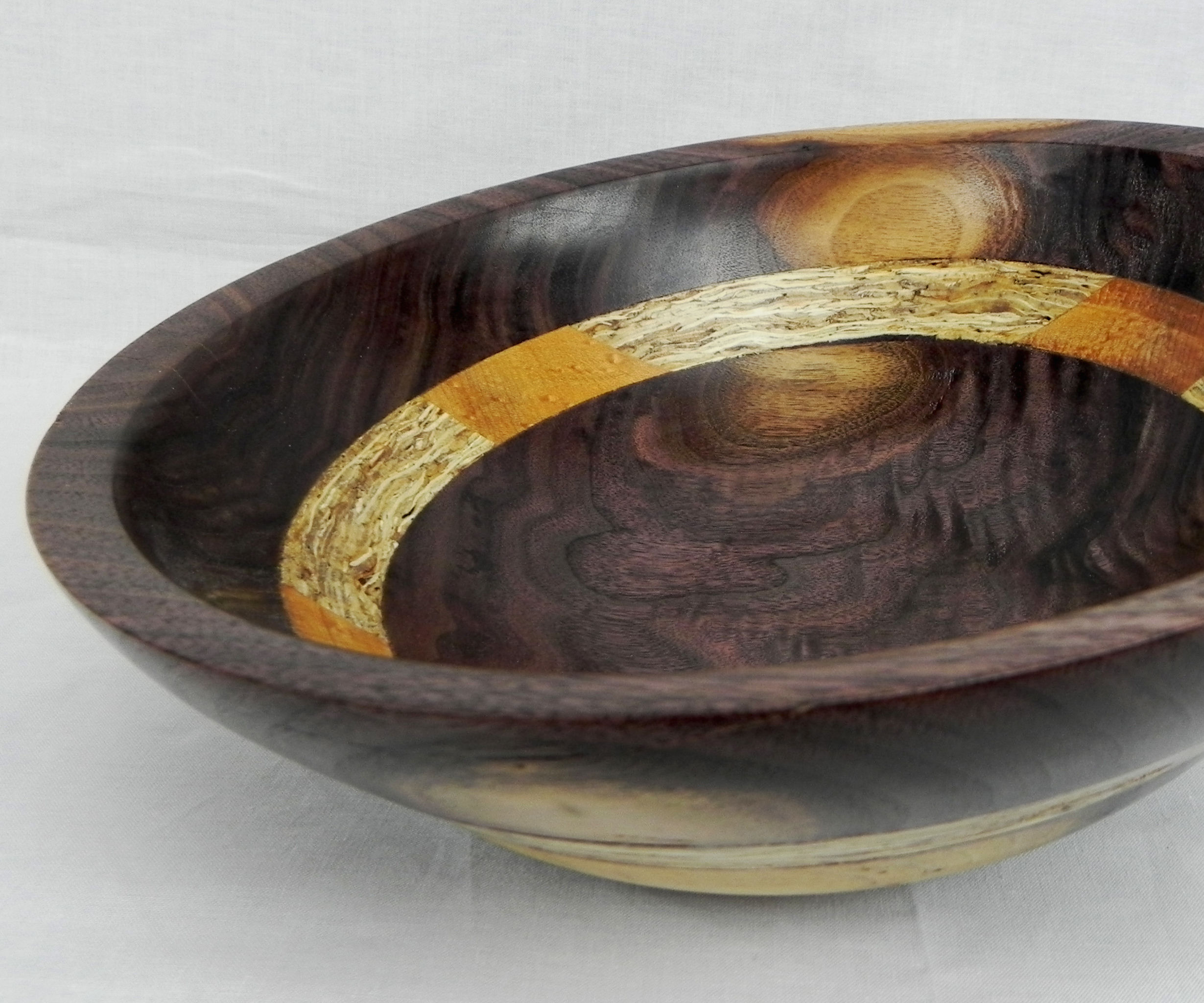 Laminated reclaimed wooden bowl