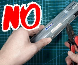 How to Open Laptop Battery and Get 18650 Without Any TOOLS