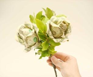 Dollar Bill Flower Bouquet