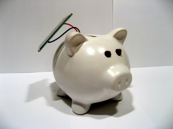 Evil Dark Detecting Solar Piggy Night Light