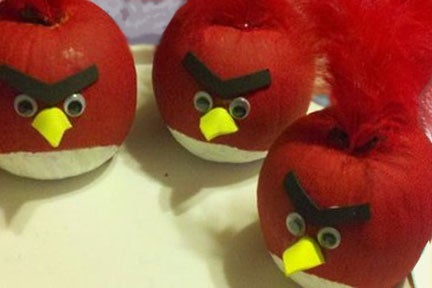 Make Red Angry Birds Pumpkins