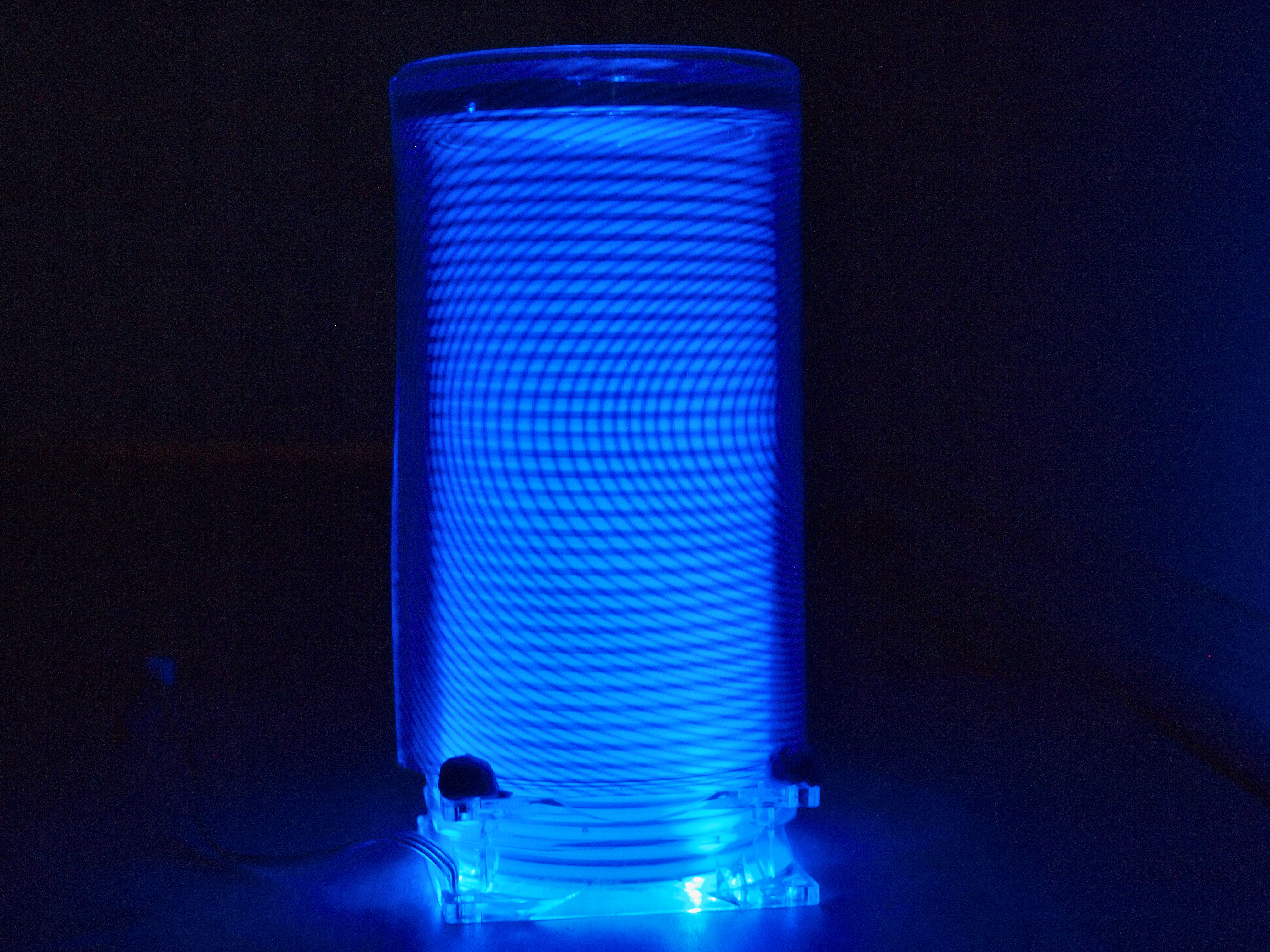 Moire Effect Spinning Lamp