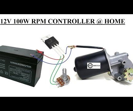 Simplest 12V 100W DC Motor Speed Controller