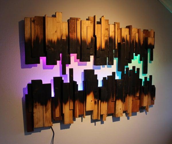 Burned Wood Wall Art