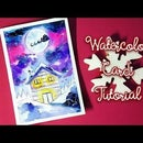 DIY Christmas Card With Watercolors
