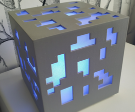 Minecraft Ore Lamp - Customizable Size and Pixel Density