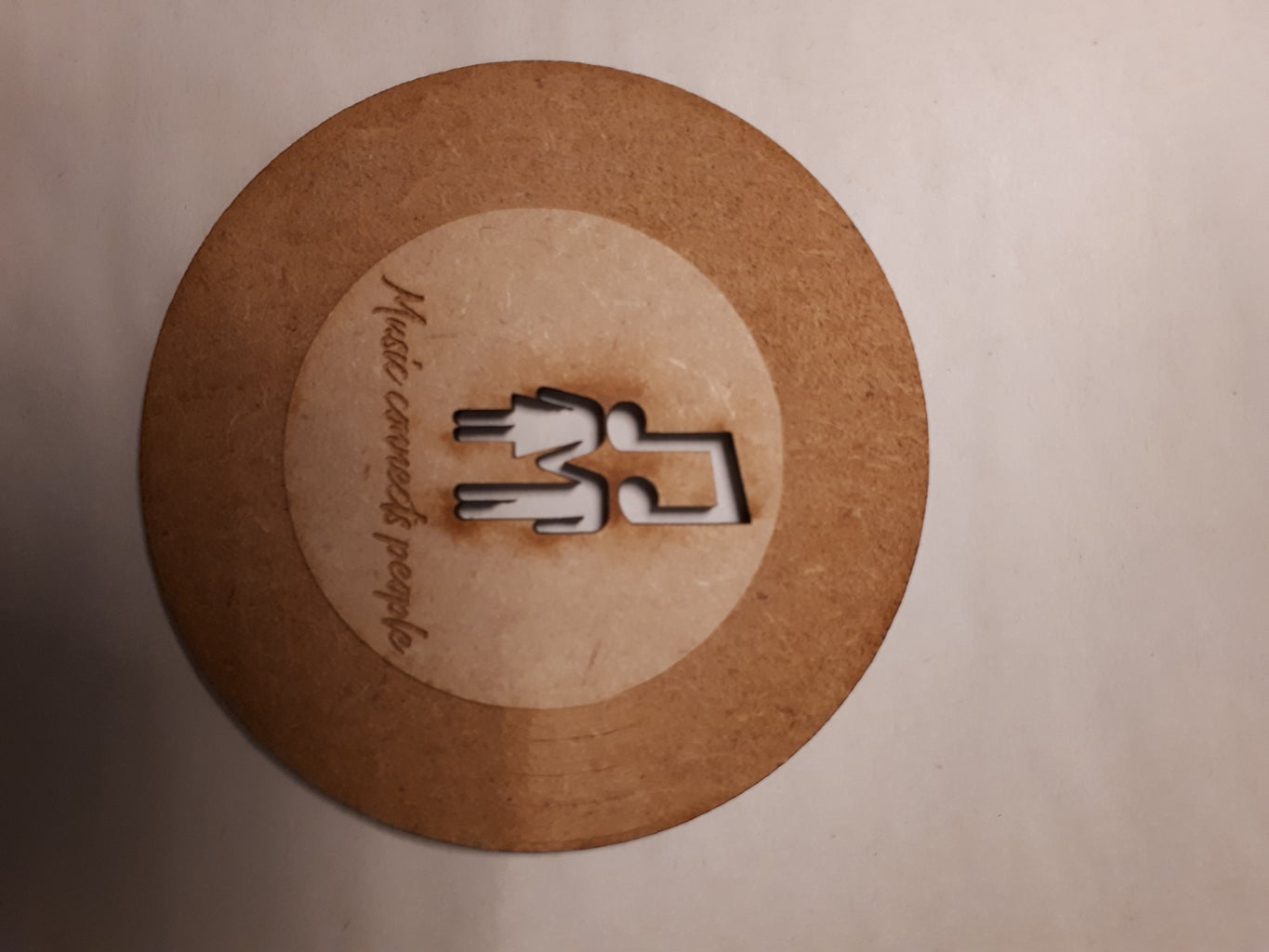 Result Laser Cutted Coaster 'Music Connects People'