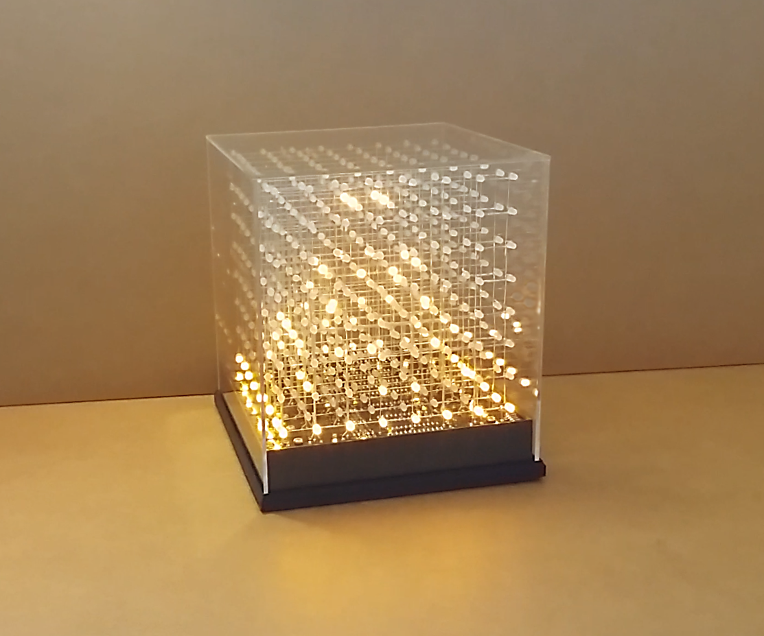 JolliCube (8x8x8 LED Cube) with MD_Cubo library