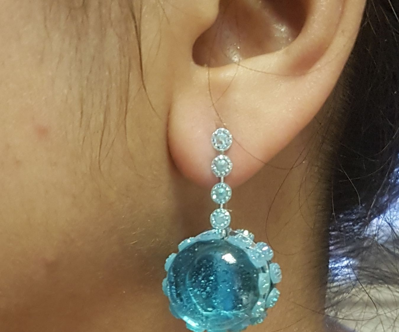 Glass Bead Earring, Pendent and Ring